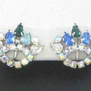 Vintage b david Earrings teardrop and chaton rh's